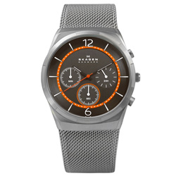 SKAGEN Melbye北歐丹麥耀眼紳士米蘭編織不鏽鋼手錶-鍍灰/40mm