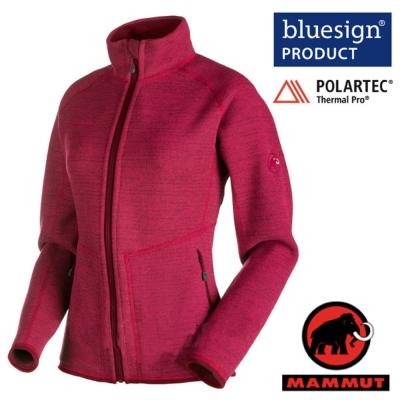 【MAMMUT 長毛象】女 Arctic Jacket 超輕透氣抗菌保暖刷毛外套_洋紅