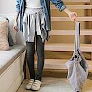 情侶系列~假兩件不規則直紋裙拼接內搭褲-OB大尺碼