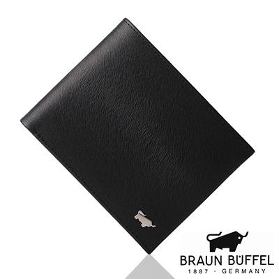 BRAUN BUFFEL - 提貝里烏斯系列8卡中翻窗格零錢皮夾 - 黑色