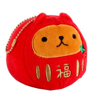 kapibarasan 水豚君福氣吉祥公仔珠鍊吊飾。紅色
