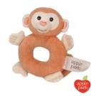 【美國 Apple Park】有機棉手搖鈴啃咬玩具 - 小猴
