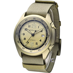 Hamilton 漢米爾頓 卡其飛行先鋒機械腕錶-卡其色/41mm