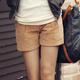 【N.C21】立體打摺百搭燈芯絨休閒褲 (共