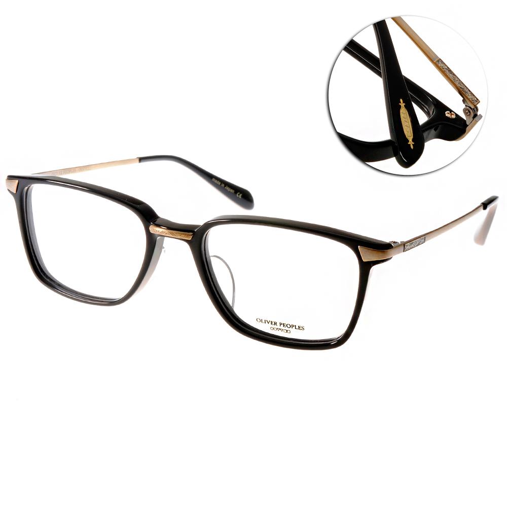 OLIVER PEOPLES眼鏡 好萊塢星鏡/黑-金#HAL 1005