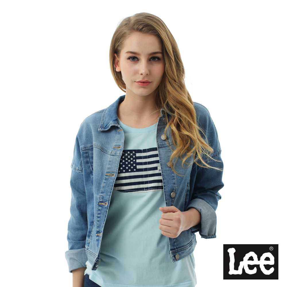 Lee 牛仔百搭外套/BO-女款-淺藍色