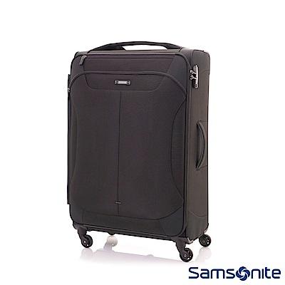 Samsonite新秀麗 28吋Stingray多功能收納擴充布面TSA海關鎖行李箱(黑)