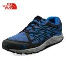 The North Face男款藍色緩衝穩定越野跑鞋