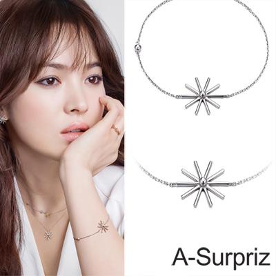 A-Surpriz 太陽的後裔100%純銀太陽花手鍊