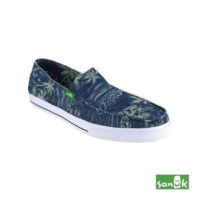 SANUK 椰子樹印花休閒鞋-男款(靛藍色)