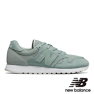 NEW BALANCE復古運動鞋-男/女U520AE麂皮綠色