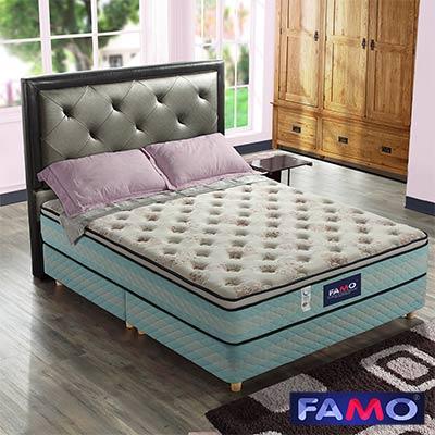 法國FAMO三線加高 柔舒 獨立筒床墊 涼感紗+針織+乳膠麵包床 雙人5尺