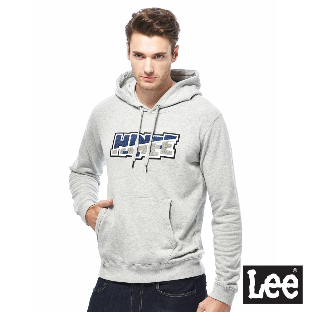 Lee HD LEE毛巾繡帽T-男款-灰