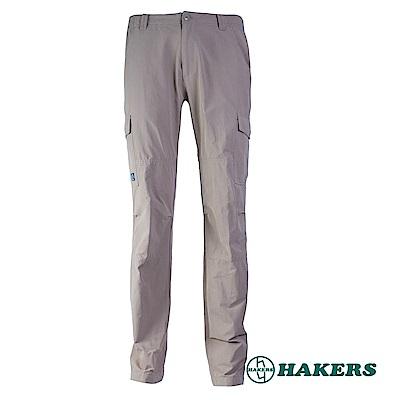 【HAKERS】男-休閒長褲-咖啡色