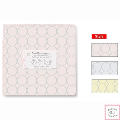 Swaddle Designs 法蘭棉絨多用途嬰兒包巾-經典圈圈