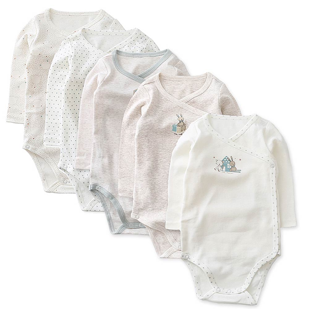 Baby unicorn 米白純棉包屁衣5件組