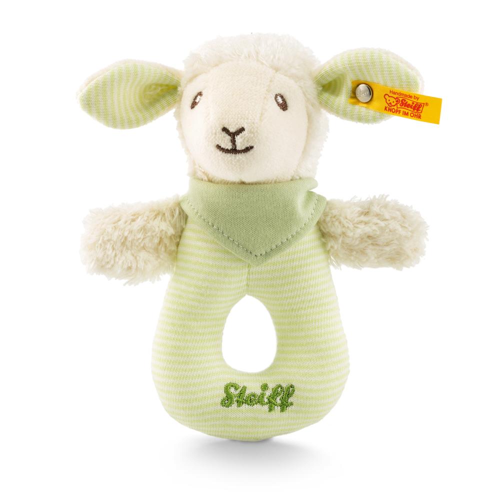 STEIFF德國金耳釦泰迪熊 - 嬰幼兒手搖玩偶 Lenny lamb grip toy
