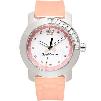 Juicy Couture BFF 晶鑽色彩美人腕錶-粉/38mm