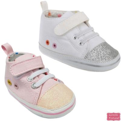 LILY & JACK 英國 亮粉高筒學布鞋寶寶鞋