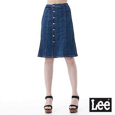 Lee  前開鈕扣式設計A字裙-女款