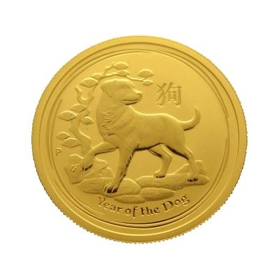 澳洲柏斯生肖紀念幣-澳洲2018狗年生肖金幣(1/2盎司)