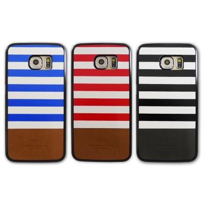 kajsa Samsung S6 Edge 海軍風格條紋保護殼