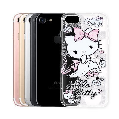 Hello Kitty貓 iPhone 8/iPhone 7 透明空壓防震殼(成...