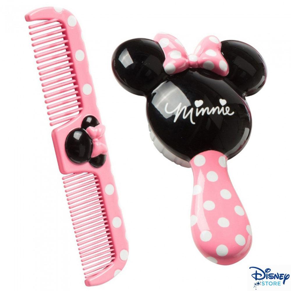 Disney 米妮髮刷髮梳二入組