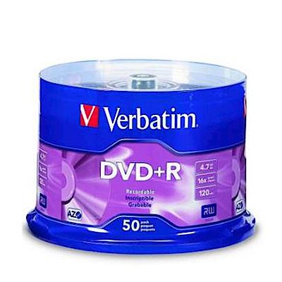 福利品 Verbatim 威寶 藍鳳凰 16X DVD+R 燒錄片(50片)