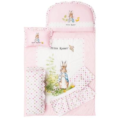 奇哥 花園比得兔六件床組M-粉紅