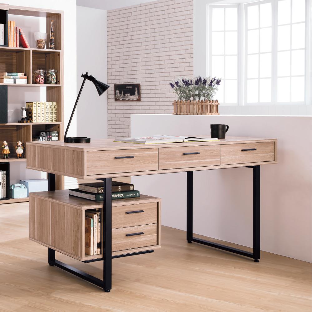 AS-達斯丁原木色5尺書桌-150x60x76cm