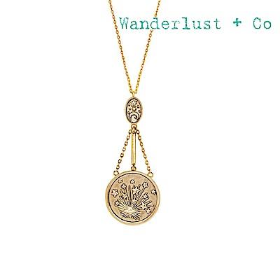 Wanderlust+Co 澳洲時尚品牌 閃耀光芒銀河垂墜吊牌項鍊 金色