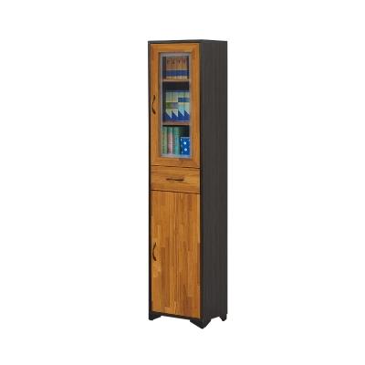 Bernice-莫那1.3尺二門一抽書櫃-39x30x187cm
