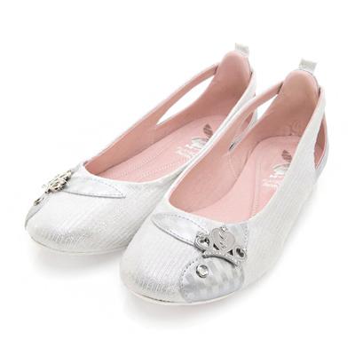 PLAYBOY 沁甜童話 優雅舞動鏤空娃娃鞋-白