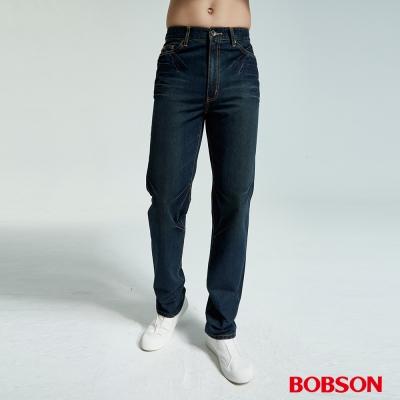 BOBSON 男款鬼爪痕直筒牛仔褲