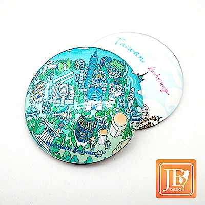 JB DESIGN-文創玻璃磁鐵-672_北台灣地圖