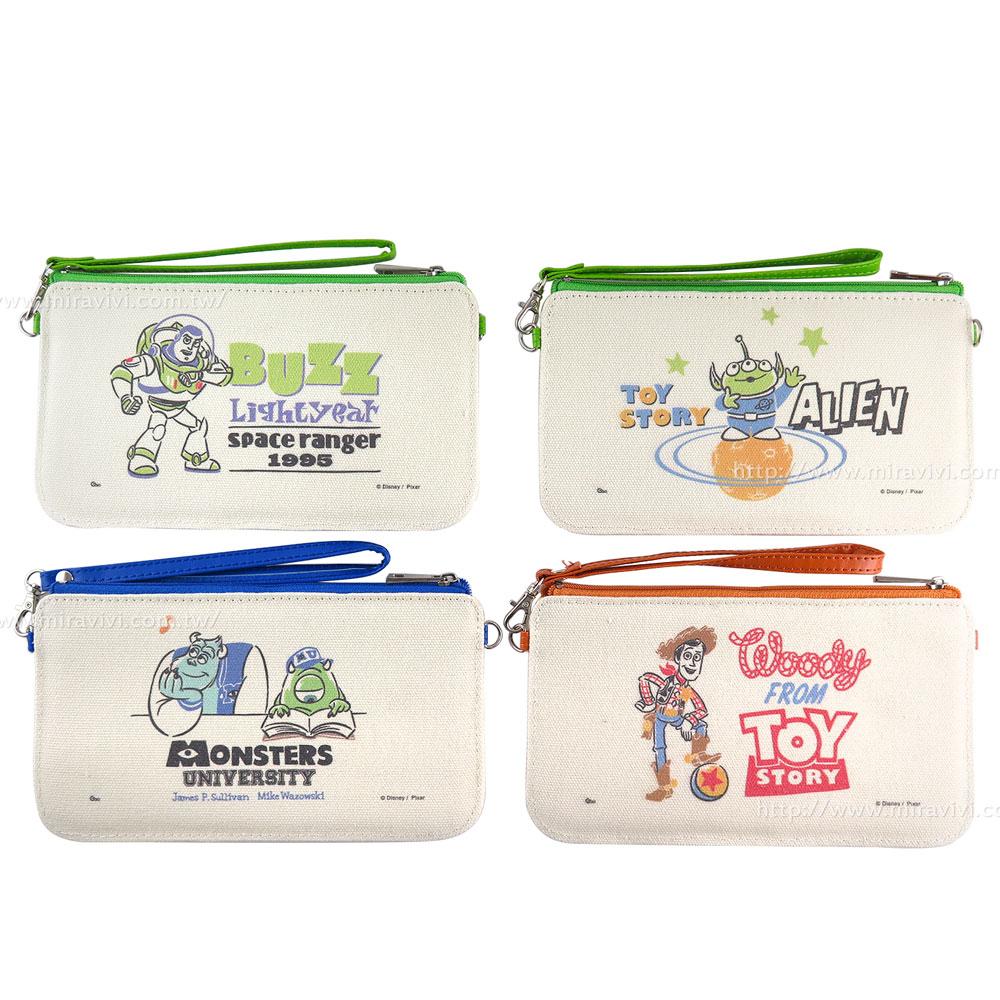 Disney 迪士尼生活自然棉麻橫式手機袋_皮克斯系列