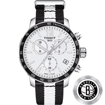 TISSOT 天梭 X NBA 籃網隊計時特別版腕錶-42mm