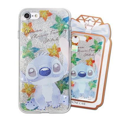 迪士尼 授權正版 iPhone 8/iPhone 7 閃粉雙料保護手機殼(史迪奇...