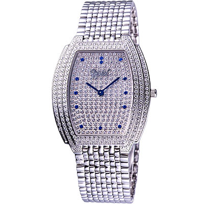 Ogival 晶華系列璀璨珠寶腕錶(銀)