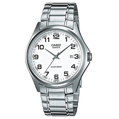 CASIO 羅馬時尚精緻紳士腕錶(MTP-1183A-7B)白x數字時刻/37mm
