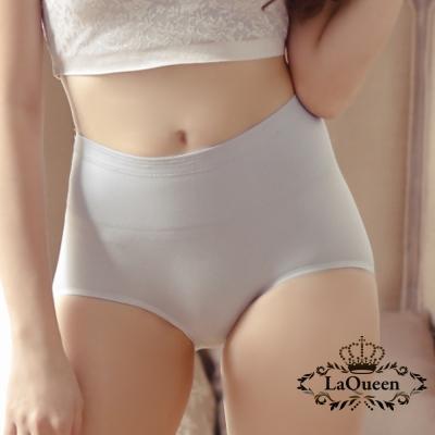 內褲  素面簡約無痕蠶絲內褲-藍 La Queen