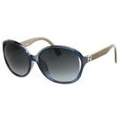 FENDI 時尚太陽眼鏡(透明藍色)