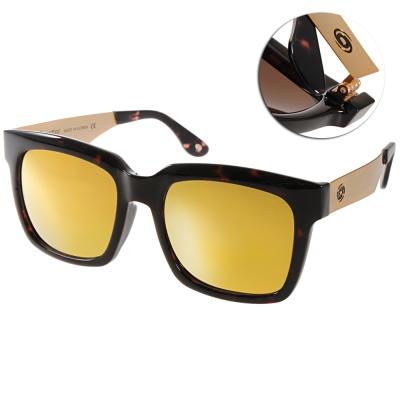 Go-Getter太陽眼鏡 個性方框/琥珀棕-水銀黃#GS4008 06