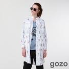 gozo 攝影師剪接藝術襯衫洋裝(二色)-動態show