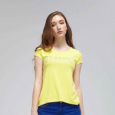 【TOP GIRL】G'LAMORR T恤-黃色
