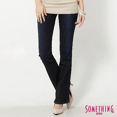 SOMETHING SOPHIA裝飾袋蓋靴型牛仔褲-女-原藍磨