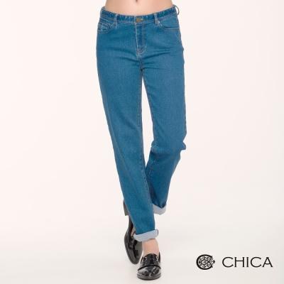 CHICA 純真年代牛仔褲長褲(1色)