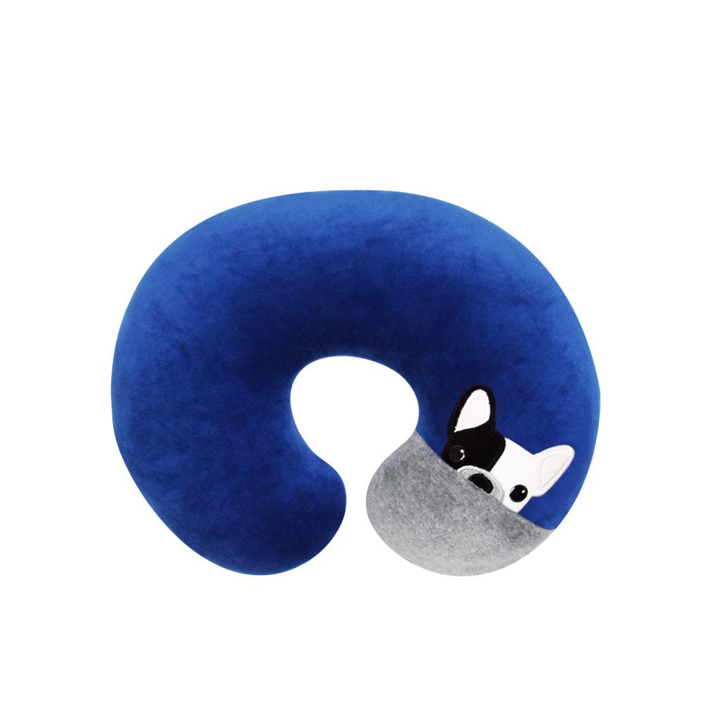 Yvonne Collection狗狗小頸部抱枕-深藍R