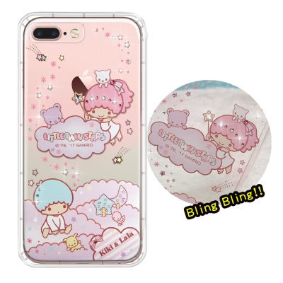 正版雙子星 iPhone 8 Plus/ 7 Plus 夢幻童話 彩鑽氣墊手機殼...